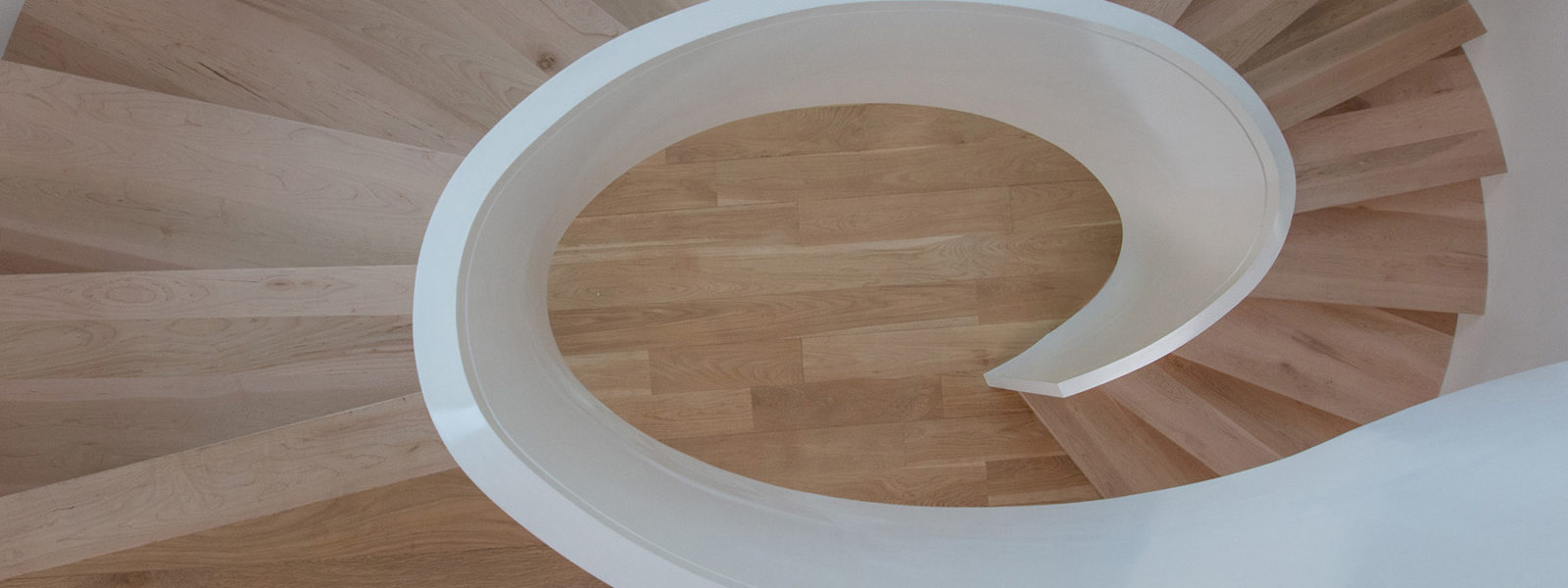 Modern Double Helix Elliptical Stair In New Orleans by Arcways Custom Stairs