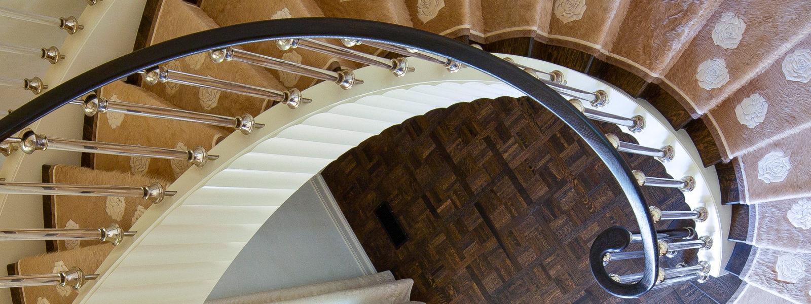 Modern Curved Stairway by Arcways Custom Stairs