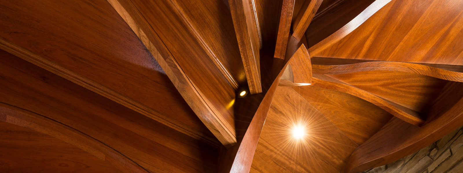 Helical Stairway in Wood and Iron by Arcways Custom Stairs
