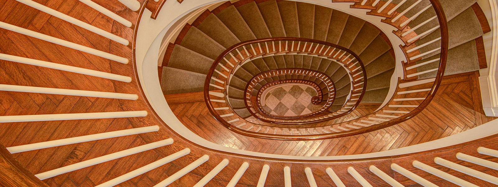 Elliptical Curved Staircase in New York City Brownstone by Arcways Custom Stairs